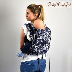 BabyMonkey ergonomické nosítko Regolo Butterfly Viola Reverse