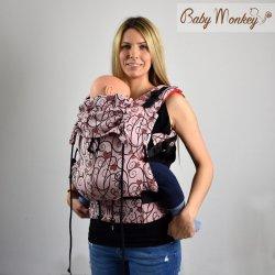 BabyMonkey ergonomic carrier Regolo Heart Rosso Reverse