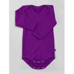 DuoMamas childern bodysuit - long sleeves - dark violet