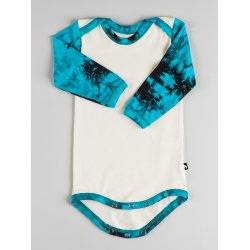 DuoMamas childern bodysuit - long sleeves - turquoise sleeves