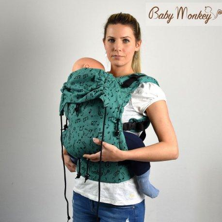 BabyMonkey ergonomic carrier Regolo Symphony Smeraldo