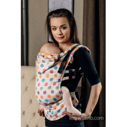 LennyLamb ergonomic carrier Polka Dots Rainbow