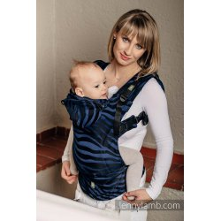LennyLamb ergonomic carrier Zebra Black & Navy Blue