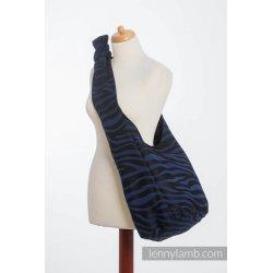 LennyLamb Hobo taška Zebra Black & Navy Blue