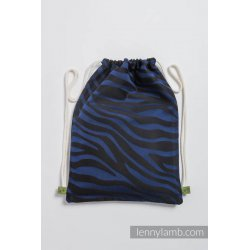 LennyLamb Bag SackPack Zebra Black & Navy Blue