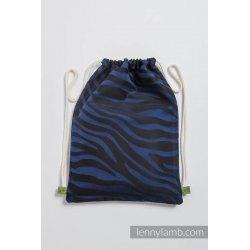 LennyLamb Taška SackPack Zebra Black & Navy Blue