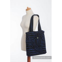 LennyLamb Shoulder Bag - Zebra Black & Navy Blue