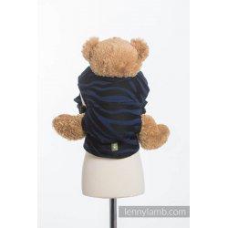 LennyLamb dětské nosítko pro panenky Zebra Black & Navy Blue