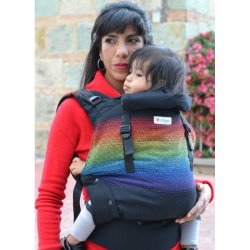 Indajani Evolution ergonomic carrier - Binni Rainbow