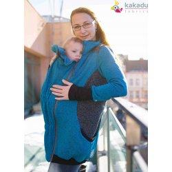 Kakadu babywearing hoodie petrol/anthracite