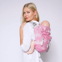 Kokadi Onbu Baby Carrier - Royal Crown Princess Silver Line