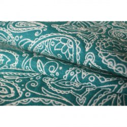 Yaro Ring Sling Lace Contra Green White Wool Glam