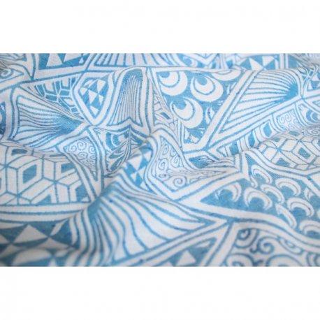 Yaro Geodesic Contra Blue White Wool Tussah