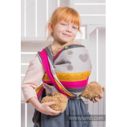 LennyLamb dětský šátek pro panenky Coffee Lace 2.0