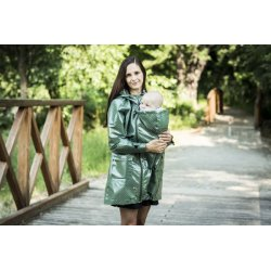 Angel Wings Green dotted raincoat