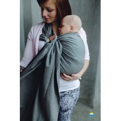 Little Frog Ring Sling Graphite Herringbone