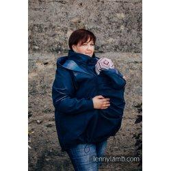 LennyLamb Nosící kabát softshell - námořní modrá s Little Herringbone Illusion