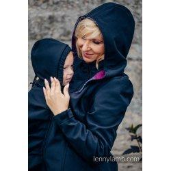 LennyLamb Nosící kabát softshell - černá s Little Herringbone Inspiration