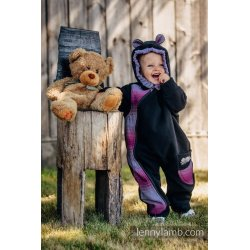 LennyLamb Kombinéza dětská Bear Romper černá s Little Herringbone Inspiration
