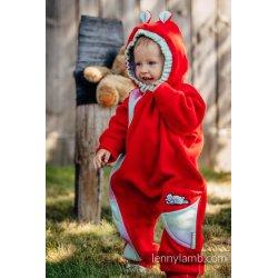 LennyLamb Kombinéza dětská Bear Romper červená s Little Herringbone Impression