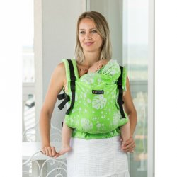 Isara ergonomic carrier V3 Philodendra Lime
