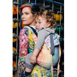 LennyLamb Onbuhimo back carrier - Rainbow Lace