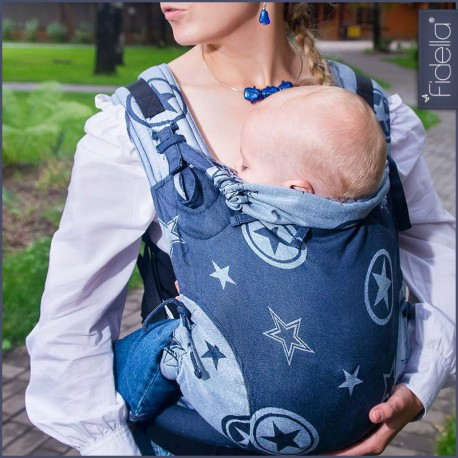 Fidella Fusion babycarrier with buckles -Outer space blue