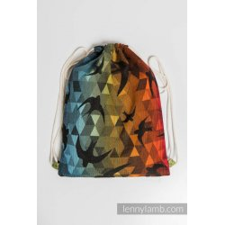 LennyLamb Bag SackPack Swallows Rainbow Dark