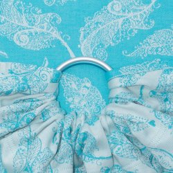 Fidella ring sling Feather Rain - scuba blue
