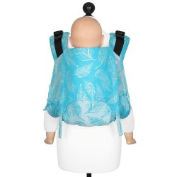 Fidella Onbuhimo V2 back carrier - Feather Rain - scuba blue