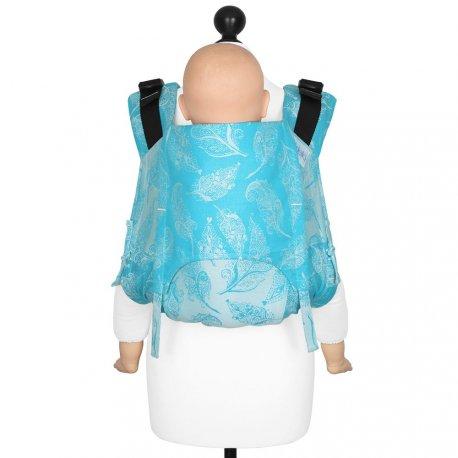 Fidella Onbuhimo V2 back carrier - Feather Rain - scuba blue