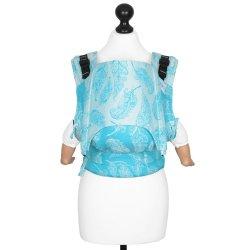 Fidella Fusion babycarrier with buckles - Feather Rain - scuba blue