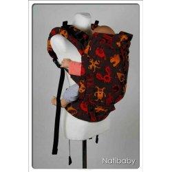 Natibaby ergonomické nosítko NatiGo Carrier Funny Creatures Fire