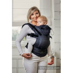 LennyLamb ergonomic carrier Basic Line Satin Weave Denim
