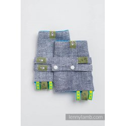 LennyLamb Drool Pads and Reach Straps Set Denim Blue