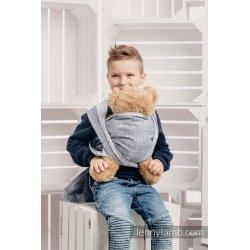 LennyLamb dětský šátek pro panenky Denim Blue