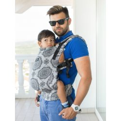 Isara ergonomic carrier V3 Kaleidoscopix Silver Gray
