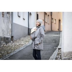 Angel Wings Softshell Parka - grey melange