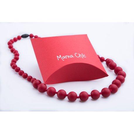 Silicone beads Mama Chic - Crimson