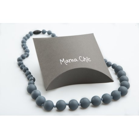 Silicone beads Mama Chic - Steel grey