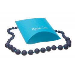 Silicone beads Mama Chic - Navy blue