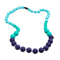 Silicone beads Mama Chic - Turquoise-aqua-violet