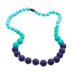 Silikonové korále Mama Chic - Tyrkys-aqua-fialová