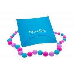 Silicone beads Mama Chic - Pink-lila-turquoise