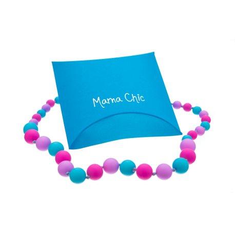 Silikonové korále Mama Chic - Růžovo-lila-tyrkys