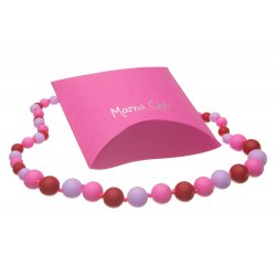Silicone beads Mama Chic - Pink-lila-red