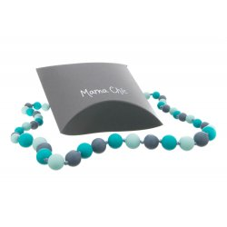 Silikonové korále Mama Chic - Aqua-mátová-šedá
