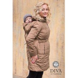 Diva Milano zimní kabát 4v1 Moka