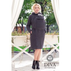 Diva Milano babywearing coat 4 in 1 (winter) Antracite