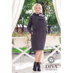 Diva Milano vlněný nosící kabát 4v1 Antracite
